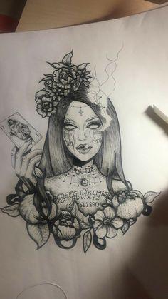 Dark Art Drawings, Tattoo Design Drawings, Pencil Art Drawings, Art Drawings Sketches, Tattoo Sketches, Tattoo Designs, Tattoo Ideas, Creepy Tattoos, Cute Tattoos