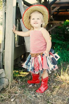 All American Cowgirl Costume - Scrappy Tutu Costume - country scrappy tutu set - fabric tutu, reversible corset top, cowgirl hat on Etsy, $48.50