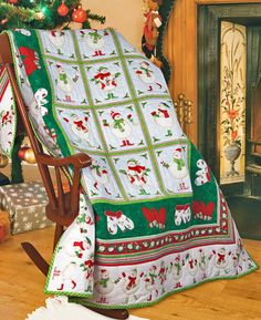 """Frosty's Mittens"" by Patti Carey (from The Quilter Magazine special Quilting for Christmas issue)"