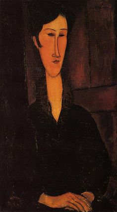 Portrait of Madame Zborowska 1917 painting