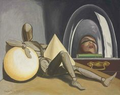 Man Ray  -  Aline et valcour, 1950, oil on canvas, 29.87 X 38 in.