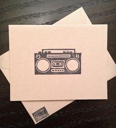 Boombox Card | Art Stationery & Cards | Handmade Mail | Scoutmob Shoppe | Product Detail