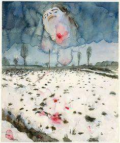 Anselm Kiefer (German, born 1945). Winter Landscape, 1970. The Metropolitan Museum of Art, New York. Denise and Andrew Saul Fund, 1995 (1995.14.5) #snow