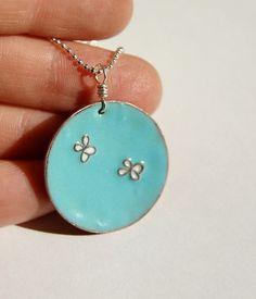 Shoply.com -Enamel Jewelry - Blue Butterfly Necklace. Only $62.00
