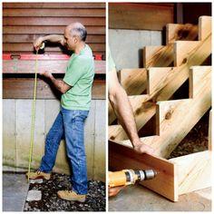 Fabriquer un escalier en bois intérieur ou extérieur - fiche infos pratiques