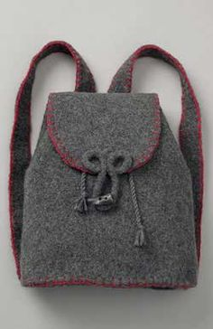 Felted Flannel Backpack