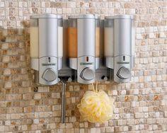 Aviva lll Satin/Translucent Triple Dispenser
