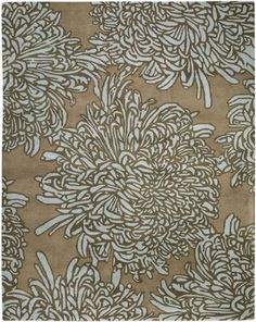Product Description  The Chrysanthemum Area Rug is a 21st-century celebration of a historic Chinese floral pattern. This bold design is hand-tufted in India of 100% wool to create an area rug that combines quality, practicality, and contemporary style. $699.00