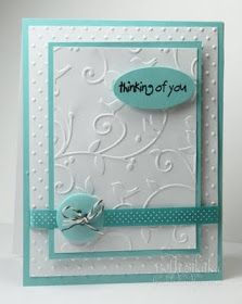 Diferent embossing on 1card