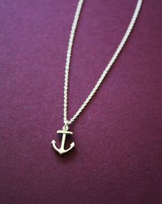 Love this dainty anchor necklace, not just because it reminds me of Hope. :)