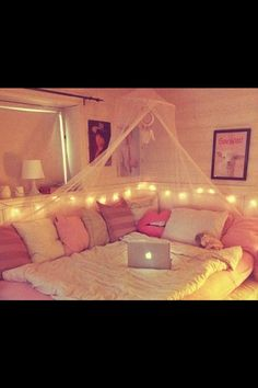 Tumblr. Room. I like this except the pillows should be white, grey, and maroon…