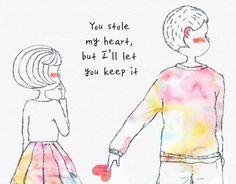 Couple in love illustration Love Illustration, Couples In Love, Let It Be, Memes, Meme, Jokes
