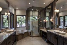 My dream bathroom! Dream House Interior, Luxury Homes Dream Houses, Dream Home Design, Home Interior Design, Dream Homes, Dream Bathrooms, Beautiful Bathrooms, Bathroom Design Luxury, Home And Deco