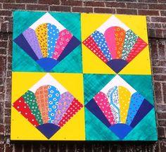 Grandmother's Fan - Kingsport, TN - Painted Barn Quilts on Waymarking.com