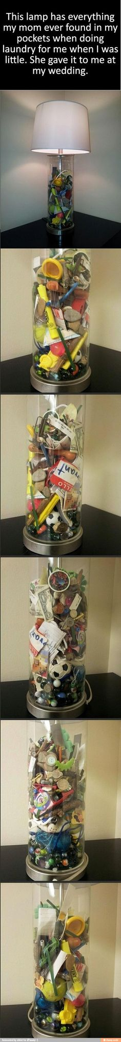What a cute idea for any1 who has young kids & can begin saving the items! ... i found this on iFunny :)