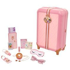 Disney Princess Style Collection Suitcase Traveler Set with 17 travel pieces