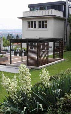 décoration de jardin moderne avec pergola