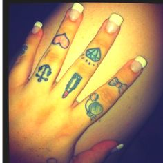 These are so cute but I don't want finger tatts words on inner fingers yes but not on top