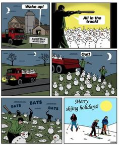 So this is how snow is made...