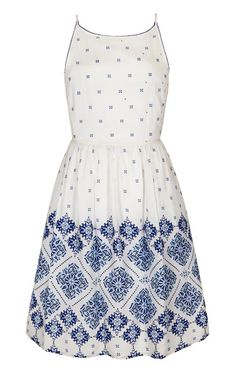 Blue and white dress from Very.co.uk
