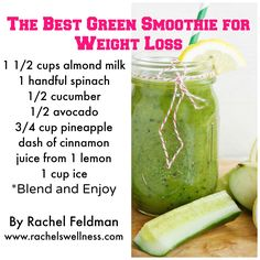 Are you looking to ditch the belly bloat with the perfect Green Smoothie for #weightloss? Check out the full blog posts here - http://www.rachelswellness.com/2014/05/13/the-best-green-smoothie-for-weight-loss/ #weightlossfast10pounds
