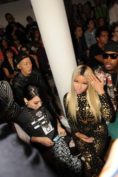 Nicki Minaj Front Row at Jeremy Scott  [Photo by Steve Eichner]