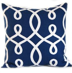 Navy Blue Decorative Pillow Cover 20 x 20 Duralee Loop Navy.  Etsy