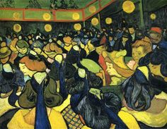 The ballroom at Arles, 1888 by Vincent van Gogh. Post-Impressionism. genre painting