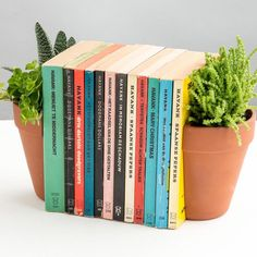 Create a unique display in your house with these terracotta plant pots that can be used as bookends. Instantly brighten up drab bookcases and breathe life into your paper-back collection with this clever two-part pot that holds your favourite novels between potted foliage. Comes complete with two metal L-plates that discreetly support books, and 2 glazed terracotta plant pots that are totally waterproof. Once clipped into the metal L sections, the planters are held in place so that they…