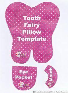 Resultado de imagen para tooth pattern for tooth fairy pillows