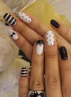 Black and White Nail Art 12 - 55 Black and White Nail Art Designs <3