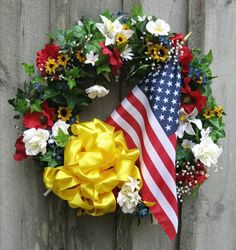 Support Our Troops Garden Wreath