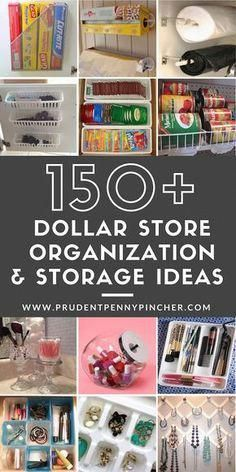 200 DIY Dollar Store Organization and Storage Ideas 150 . - 200 DIY Dollar Store Organization and Storage Ideas 150 DIY Dollar Store Or - Dollar Store Hacks, Astuces Dollar Store, Dollar Store Crafts, Dollar Stores, Dollar Dollar, Organizing Hacks, Craft Organization, Craft Storage, Storage Ideas