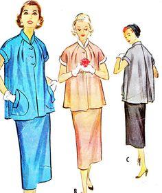 1950s Dress Pattern McCalls 9562 Two Piece by paneenjerez on Etsy