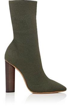 Yeezy Block-Heel Boots at Barneys New York