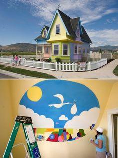 Up Nursery mural!