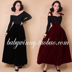 le palais vintage winter 50s black braces suspender long maxi velvet skirt plus size 4xl rockabilly pinup jumper skirts overalls