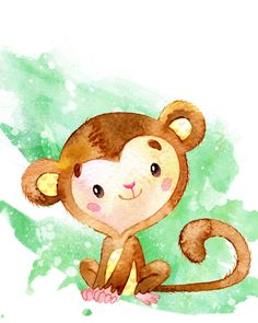 Set of Monkey Printables for Nursery Rooms (Free) Set of Free Monkey Printables for Nursery Rooms that make adorable wall art for boy or girl nurseries, as well as a nursery for twins! Nursery Drawings, Nursery Prints, Nursery Art, Monkey Drawing, Monkey Art, Animal Paintings, Animal Drawings, Cute Drawings, Monkey Nursery