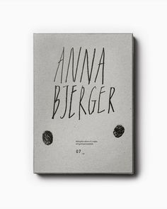 Anna Bjerger Book by Bedow, Sweden. #art #book