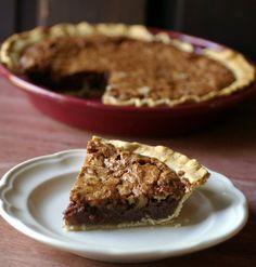 Chocolate Walnut Pie >> via My Catholic Kitchen