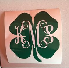 Monogram 4-H Clover Decal 4-H Clover Monogram Decal by BMTCrafts