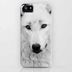 WHITE WOLF #iPhone Case by Allyjcat - $35.00