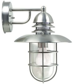 Lite Source Lamppost I Outdoor Light Wall Fixture in Stainless Steel - Shower Lighting, Outdoor Lighting, Wall Fixtures, Light Fixtures, Wall Lights, Stainless Steel, Cottage Ideas, Beach House, Exterior