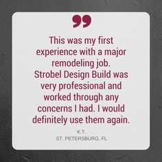 We love when clients say they would work with us again without hesitation!