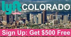Earn $500 for FREE by signing up through Denver Lyft Driver .com! Its quick, free, and easy! We look forward to you joining our Colorado drivers team!  http://www.denverlyftdriver.com