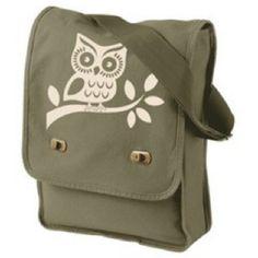 Messenger bag. Owl.
