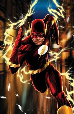 "The FLASH!   All prints are 11""x17"" unless otherwise specified.   *All art is owned and copyrighted by Damon Bowie and Intense Yellow Productions. Any unauthorized usage of images without consent is prohibited. *"