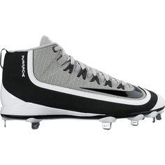 Nike Men's Huarache 2KFilth Pro Mid Baseball Cleats, Size: 11.0, Black