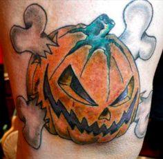 Evil Pumpkin Tattoo Closeup Image - Emma Lee home Life Tattoos, New Tattoos, Halloween Tattoo Flash, Pumpkin Tattoo, Evil Pumpkin, Lantern Tattoo, Picture Tattoos, Halloween Pumpkins, Tattoo Designs