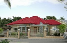 50 Images Of Small Bungalow House Design Ideal For Philippines Modern Bungalow House Design, Bungalow Decor, Small Bungalow, Bungalow Exterior, Bungalow House Plans, Exterior House Colors, Bungalows, Philippines House Design, Philippine Houses